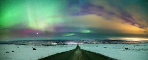 Northeren lights over iceland