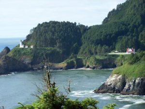 Oregon Coast Lighthouse from Hwy 1