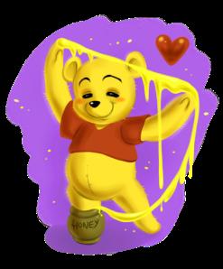 winnie_the_pooh__honey_art_by_daekazu-d4h6y6x